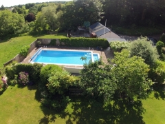 The pool from above,