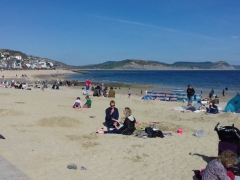 Sandy beach at Lyme Regis