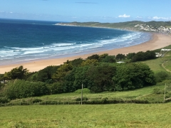 we are on the edge of Woolacombe